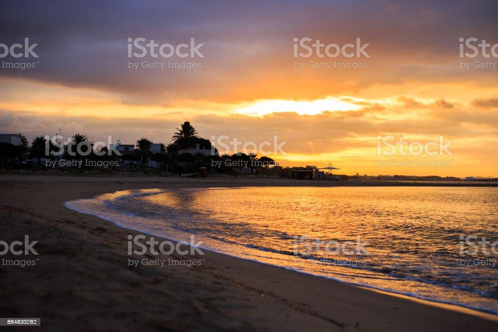 Hintergrund strand sonnenuntergang