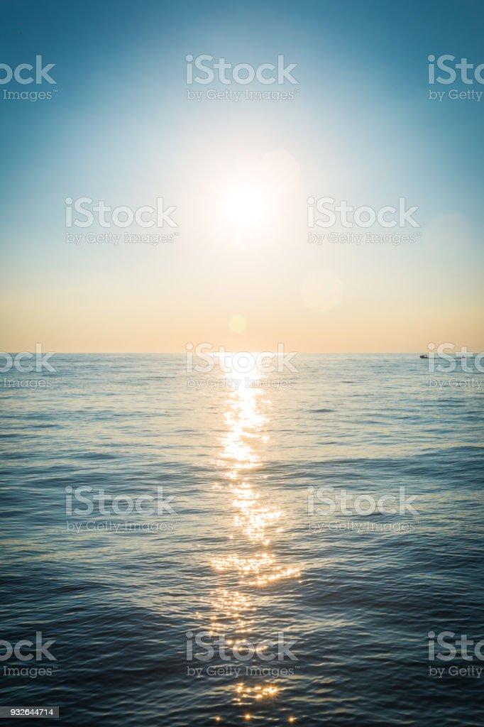 Beautiful sea sunset. Trieste, Italy, Europe stock photo
