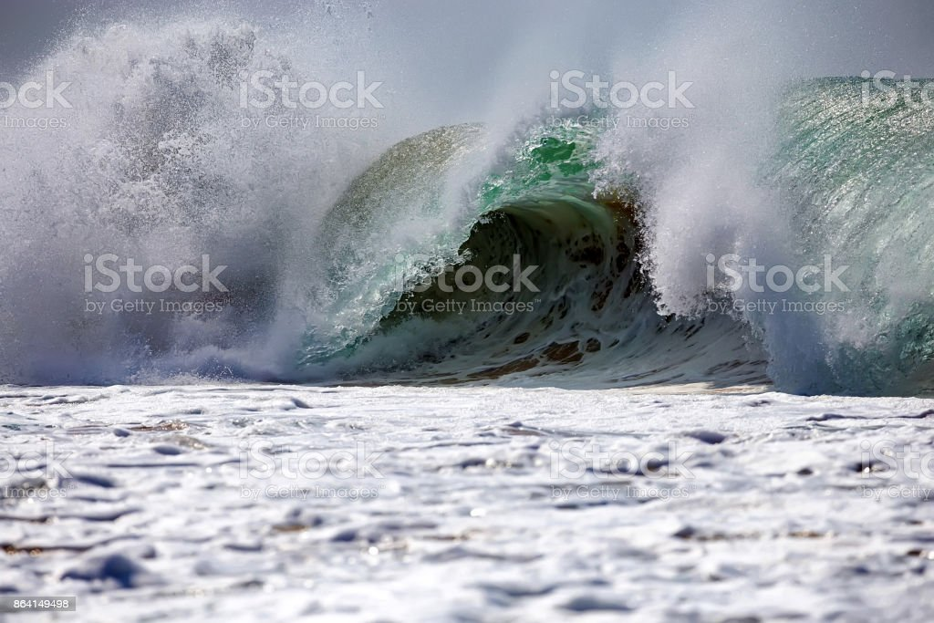 Beautiful sea wave royalty-free stock photo