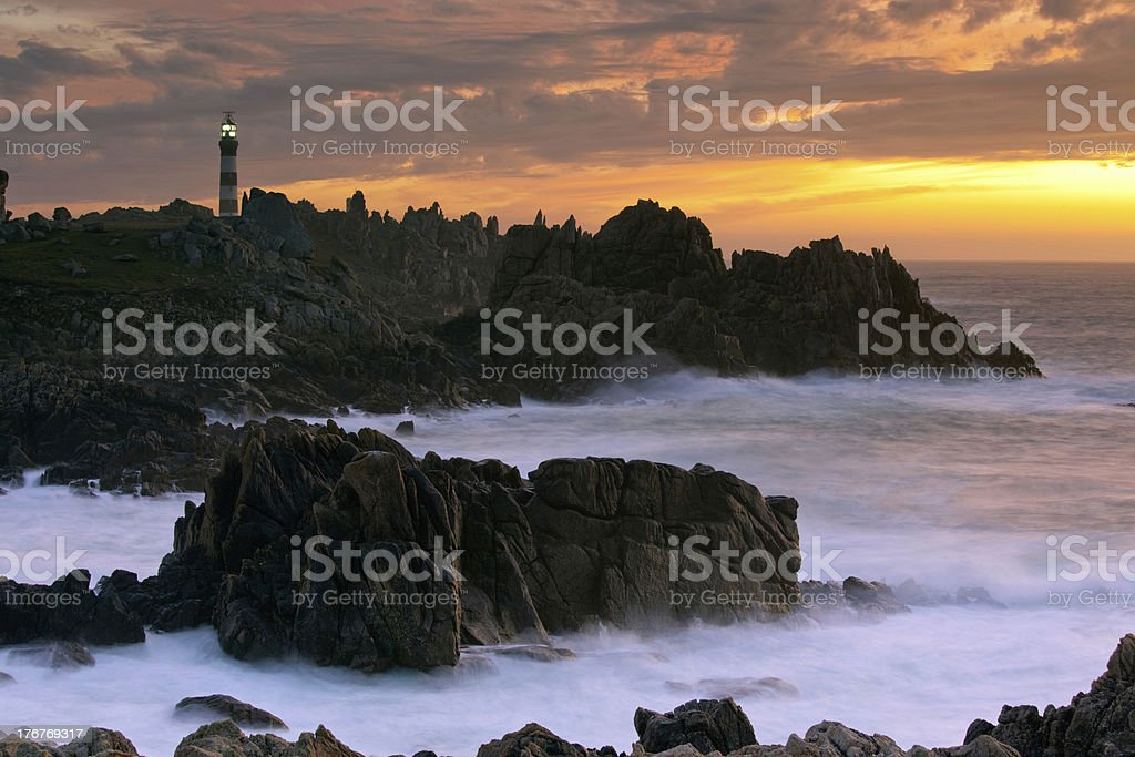 beautiful seascape at dusk stock photo