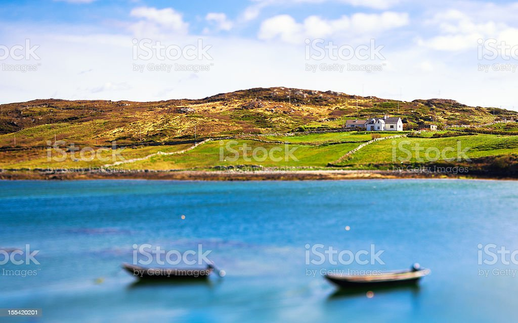 Beautiful Seascape in Ireland, Connemara stock photo