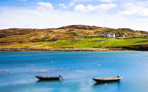Beautiful Seascape in Ireland, Connemara stock photo