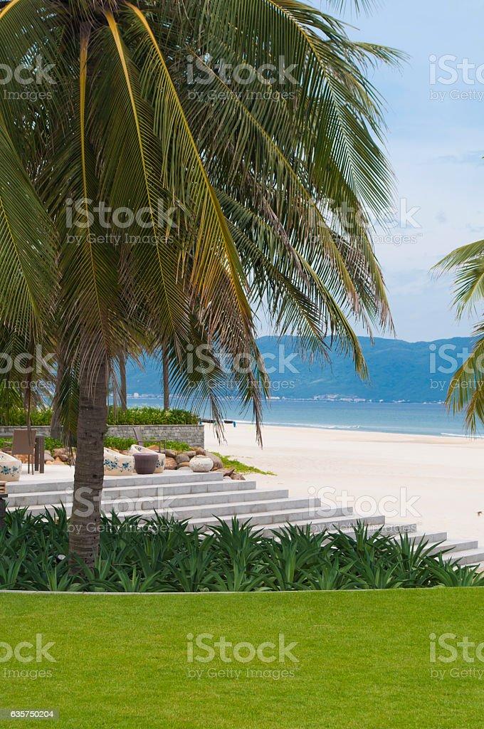 Beautiful seascape of My Khe beach, Vietnam stock photo