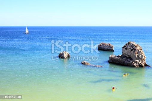 Beautiful seascape, Algarve region, Portugal