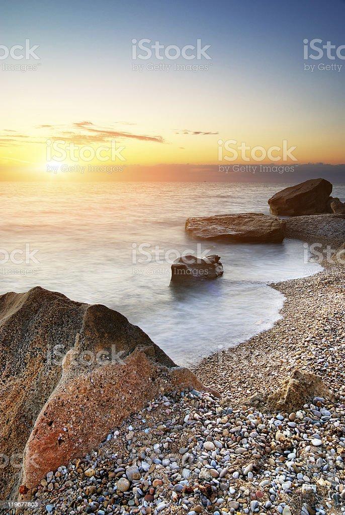 Beautiful seascape. royalty-free stock photo