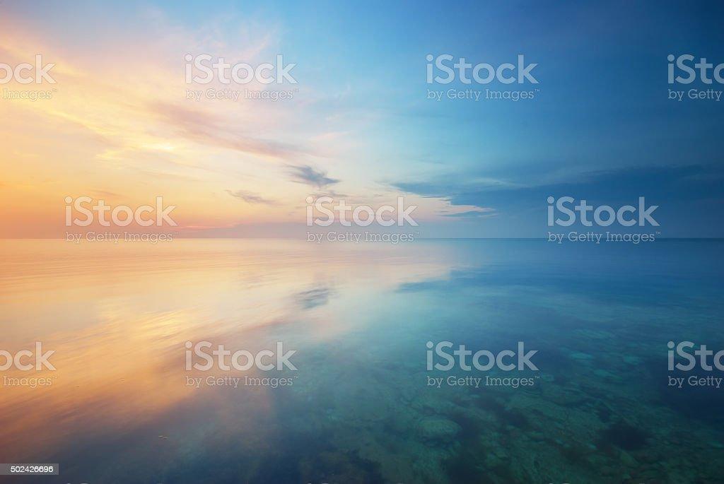Beautiful seascape. stock photo