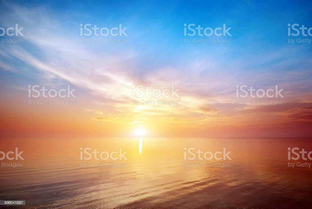 Beautiful seascape. stock photo