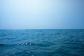 Beautiful seascape under blue sky
