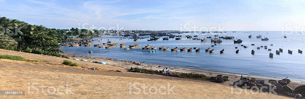 Beautiful seascape with a lot of boat royalty-free stock photo