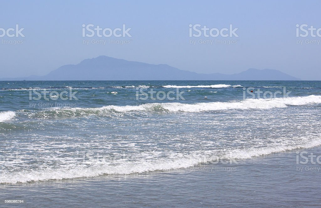 beautiful seascape with fresh cold water in summer, selective focus Lizenzfreies stock-foto