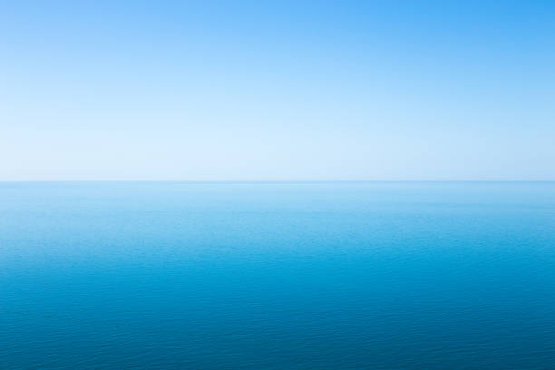Beautiful seascape without clouds stock photo