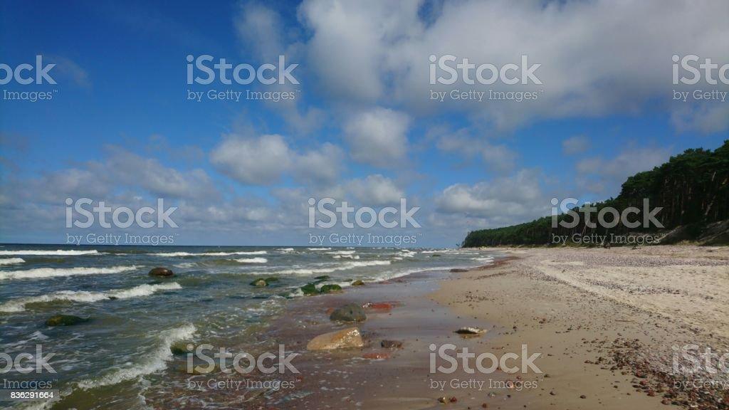 Beautiful seashore in Lithuania stock photo