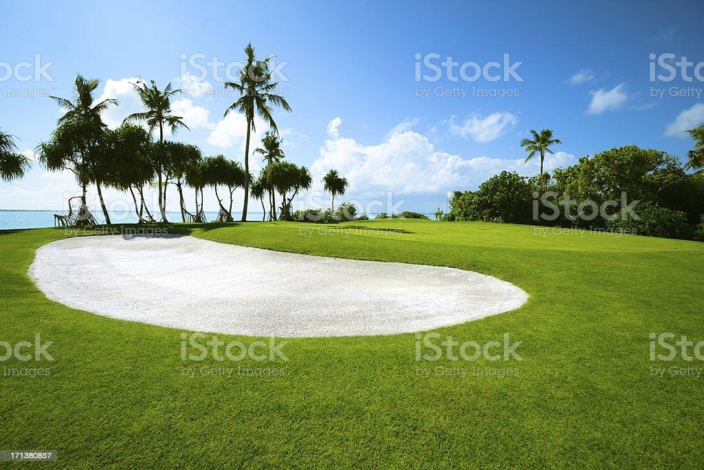 Beautiful Seaside Golf Course stock photo
