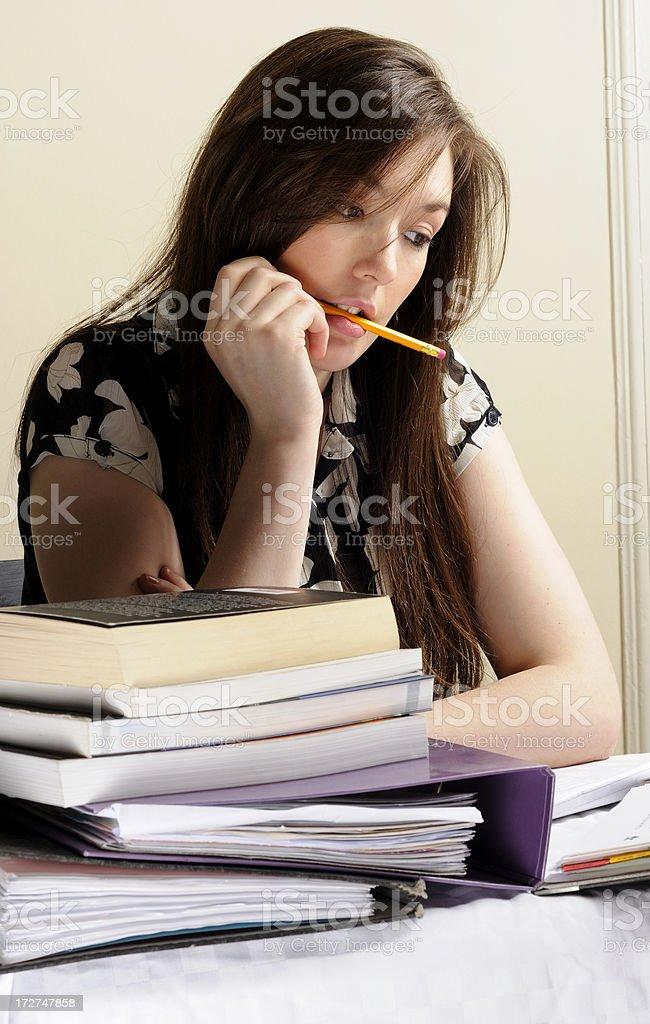 Beautiful Secretary or Student royalty-free stock photo