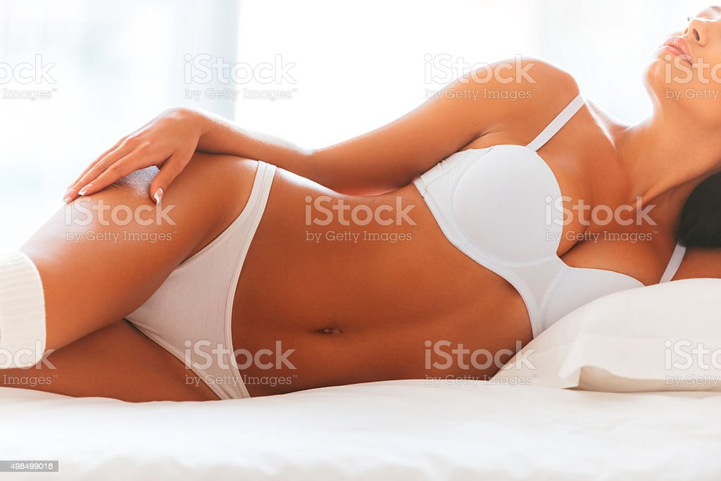 Beautiful seductress. stock photo