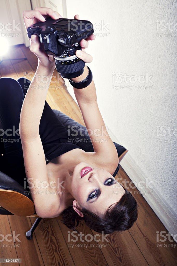 beautiful self portrait woman royalty-free stock photo