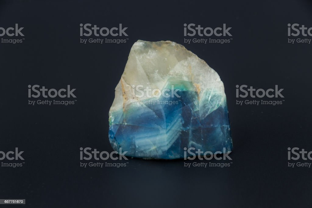 Beautiful semi-precious stone Larimar on a black background stock photo