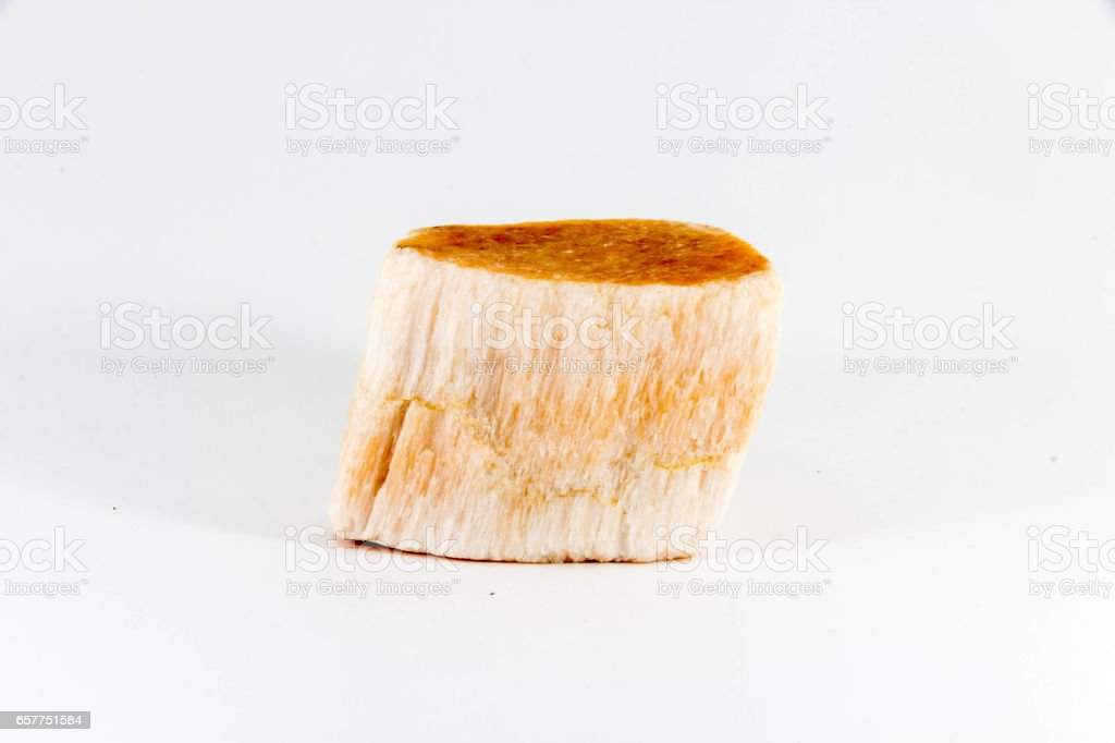 Beautiful semiprecious stone on a white background stock photo