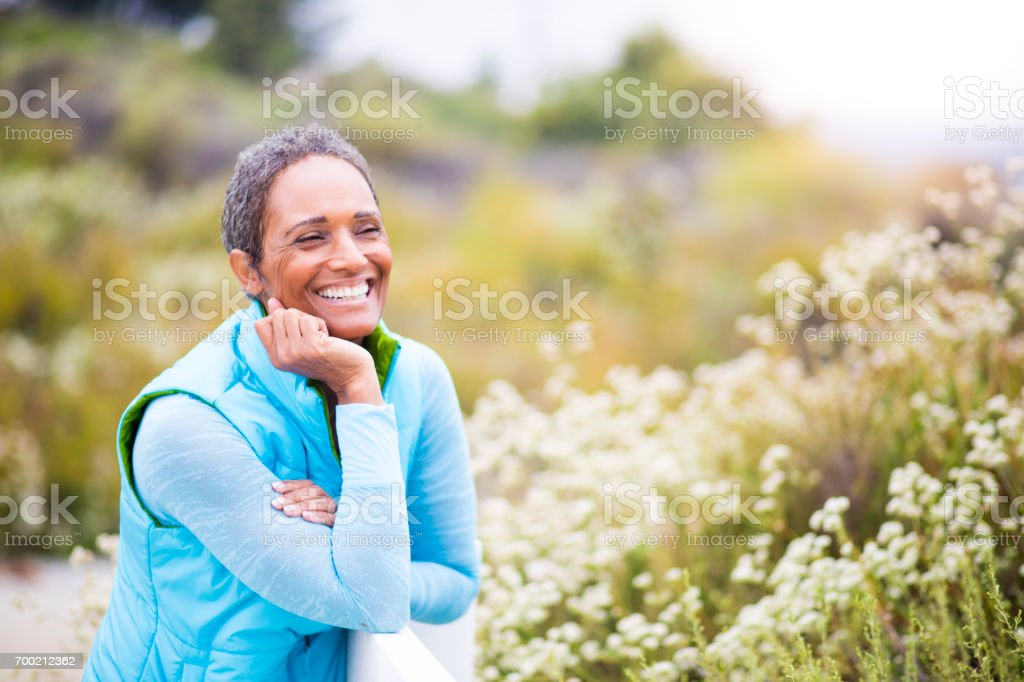 Beautiful Senior African American Woman Portrait stock photo