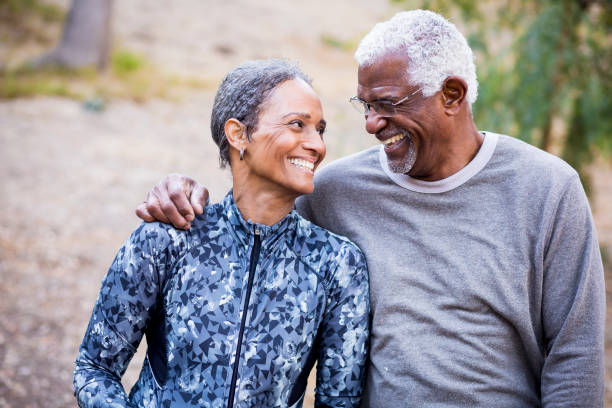 Beautiful Senior Black Couple stock photo