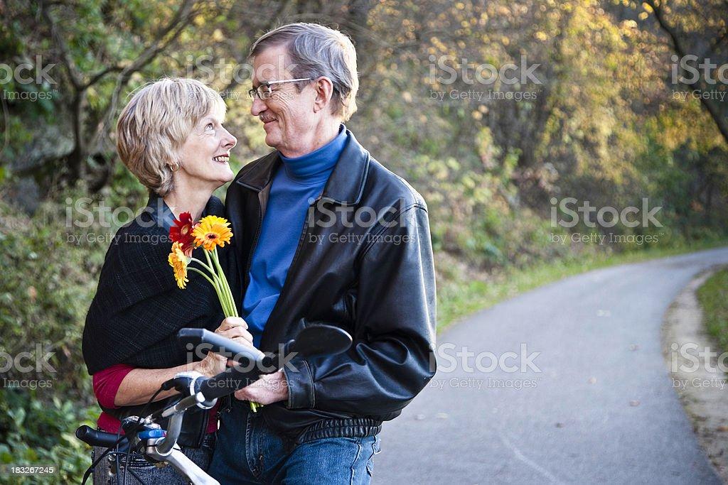 Beautiful Senior Couple Outside royalty-free stock photo