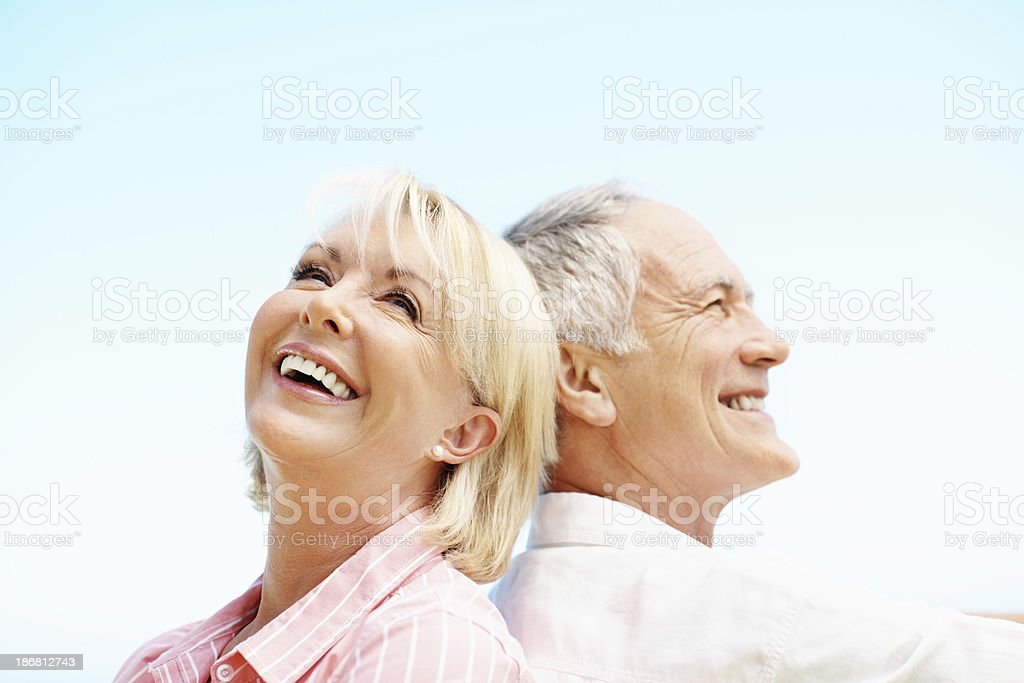 Beautiful senior couple royalty-free stock photo