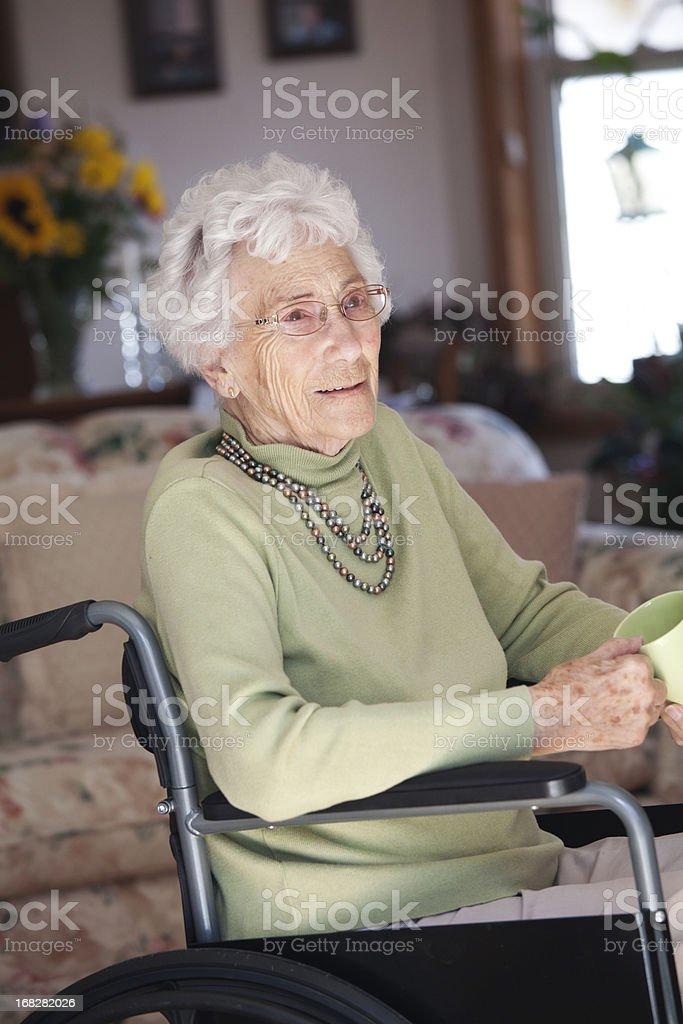 Beautiful Senior in Wheelchair royalty-free stock photo