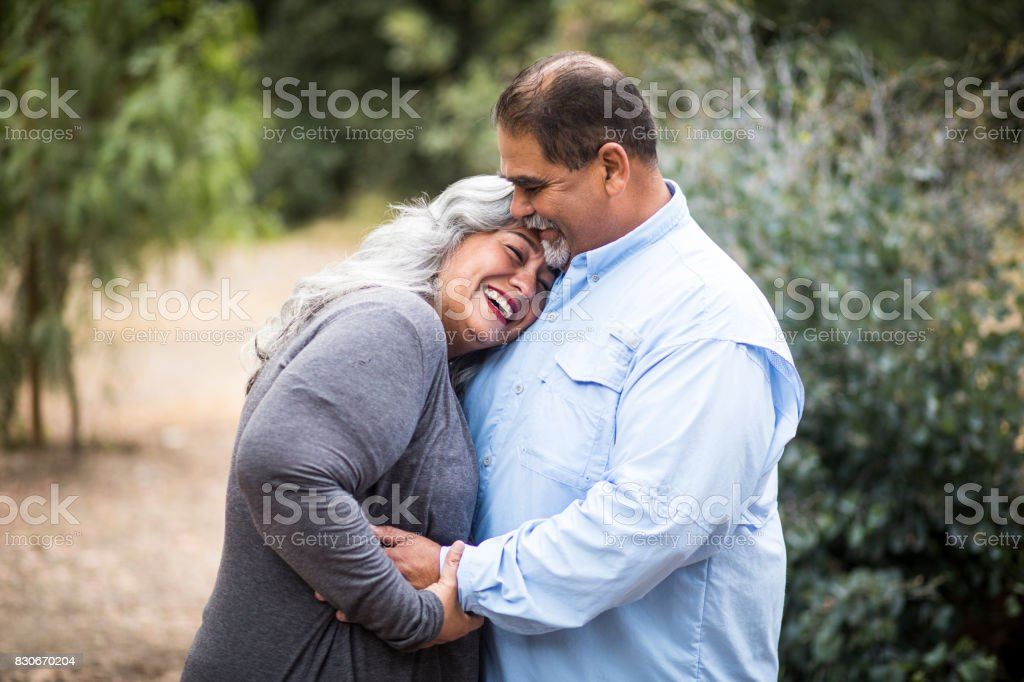 Beautiful Senior Mexican Couple stock photo