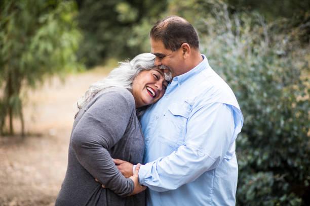 Beautiful Senior Mexican Couple stock photo