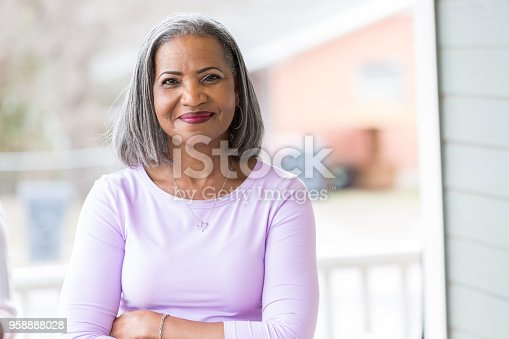 istock Beautiful senior woman outdoors 958888028