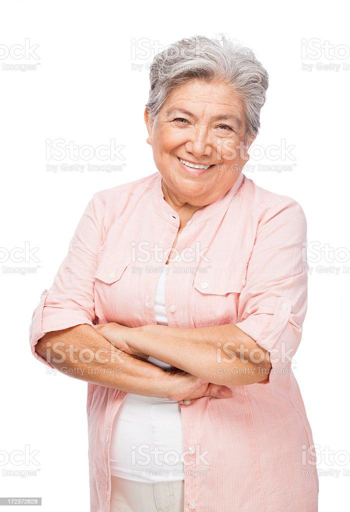 Beautiful senior woman stock photo