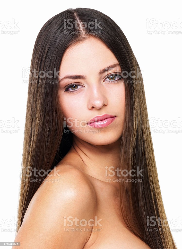 Beautiful sensual woman stock photo