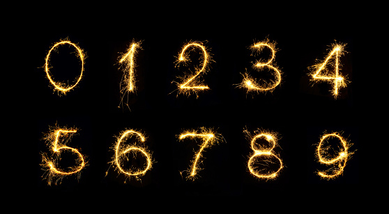 istock Beautiful set of Fireworks numbers 1078987066