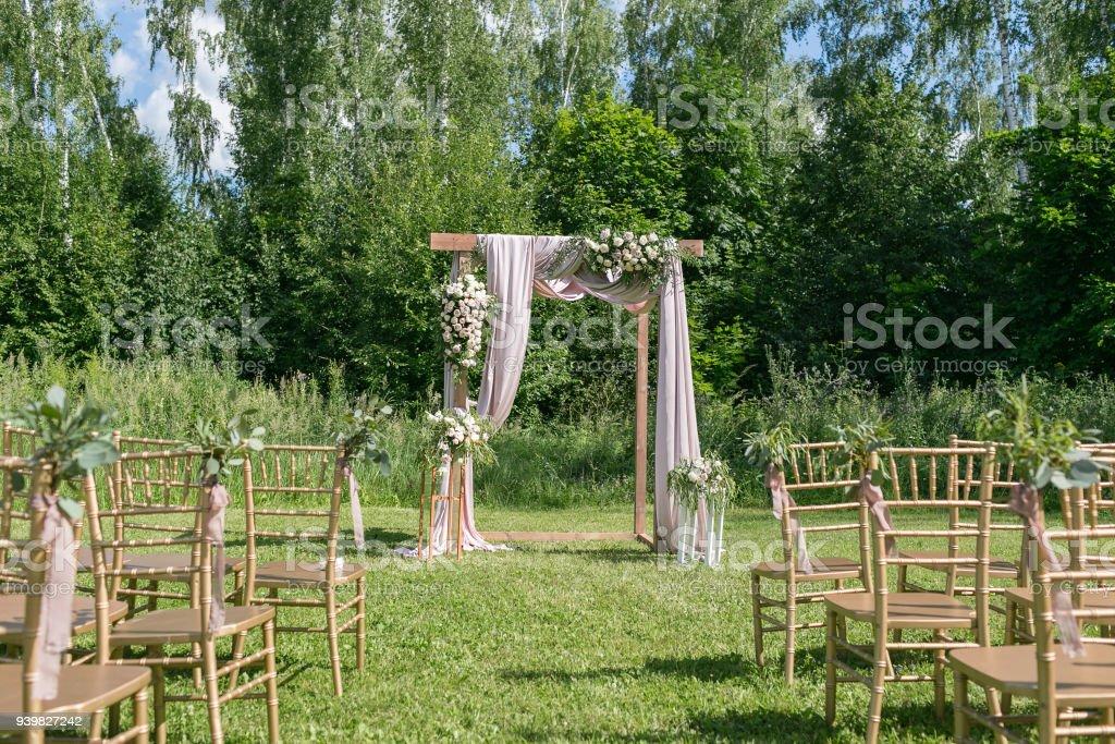 Schone Kulisse Fur Im Freien Hochzeitszeremonie Fur Brautpaar Und