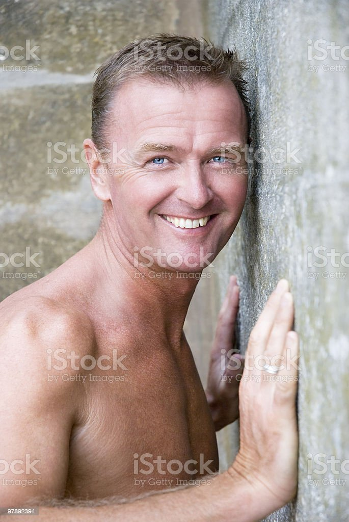 Beautiful sexy blue eyed man. royalty-free stock photo