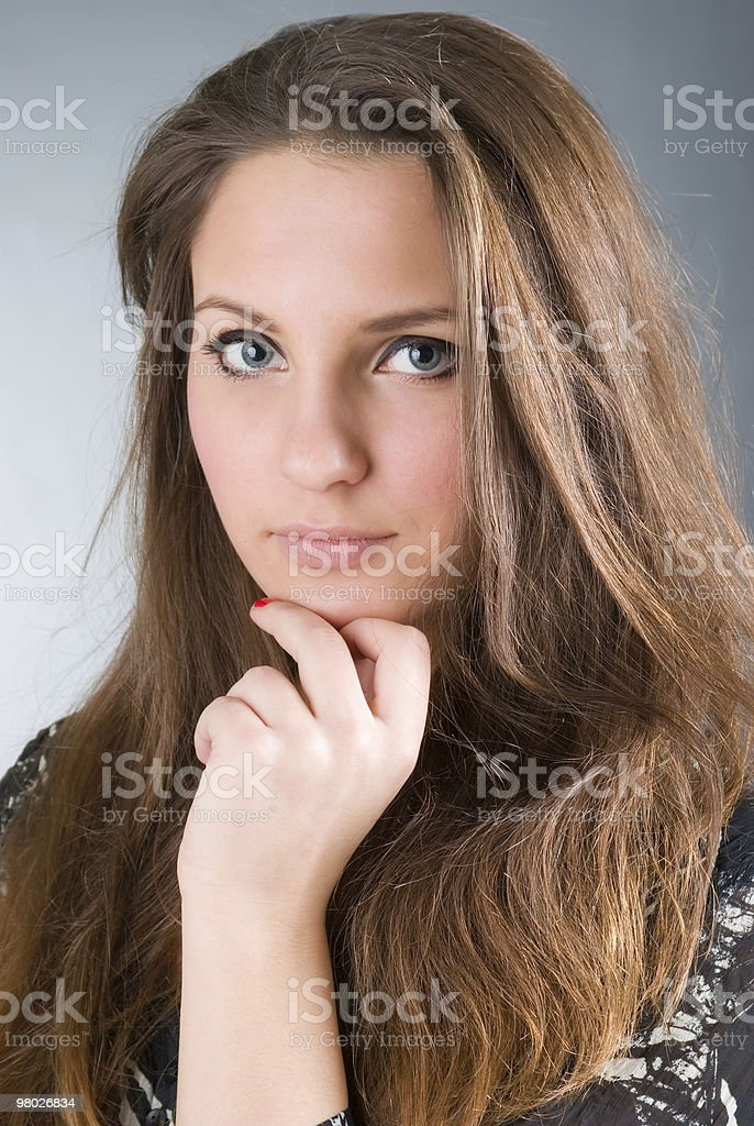 beautiful sexy brunette girl royalty-free stock photo