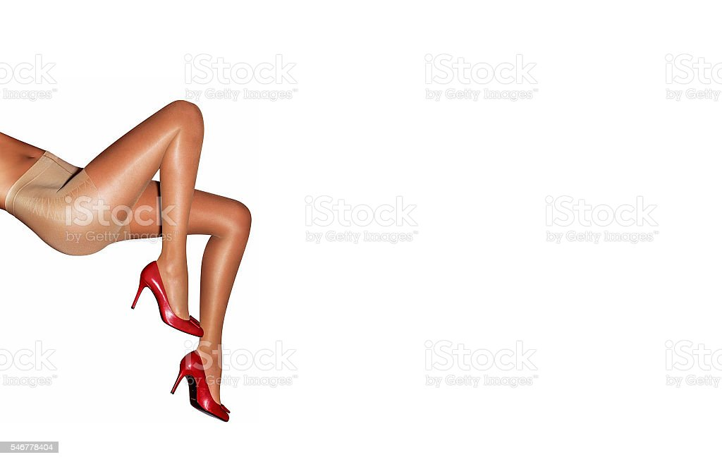 Beautiful sexy female legs in high heels stock photo