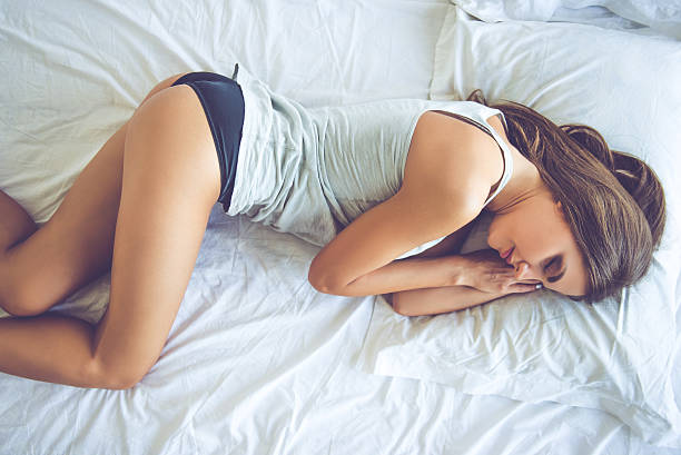 Beautiful sexy girl in bed ストックフォト