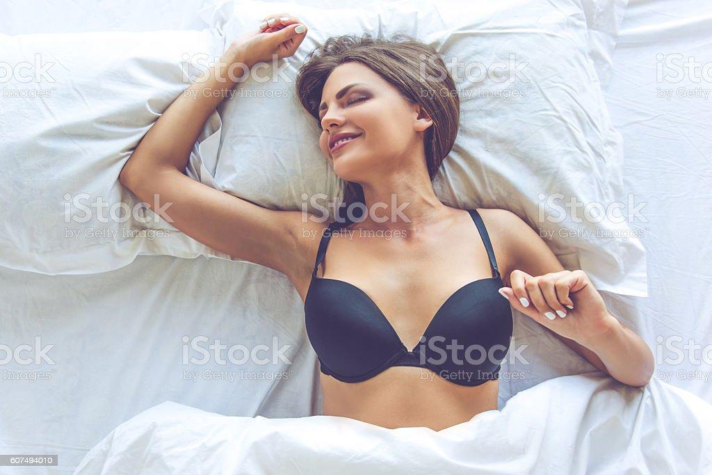 Model boob slips