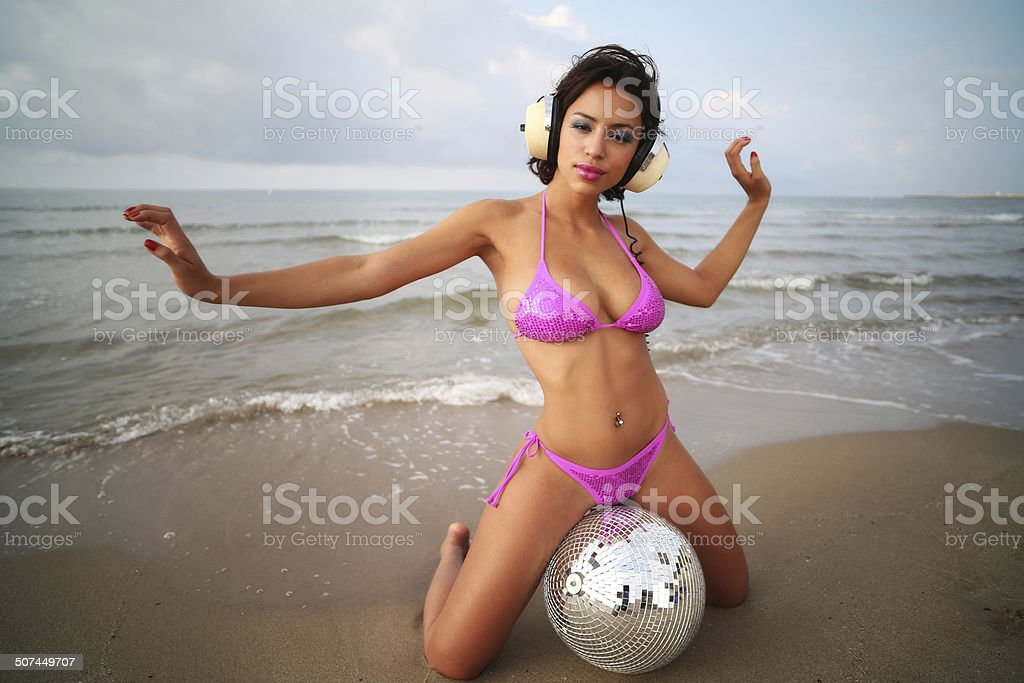 beautiful sexy woman at beach​​​ foto