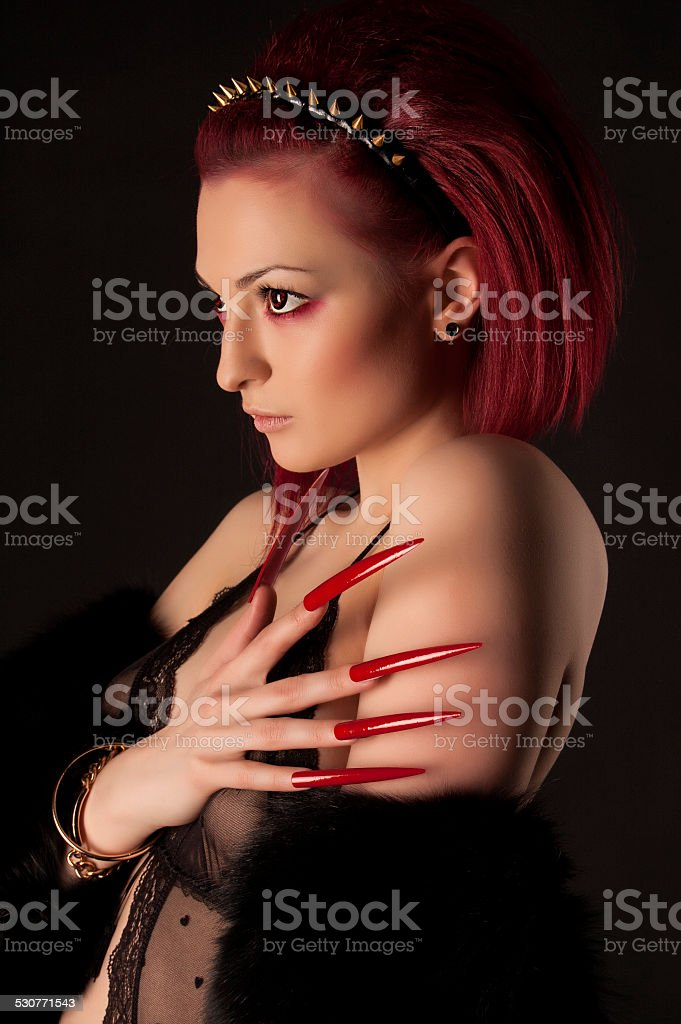 Sexy women with long nails