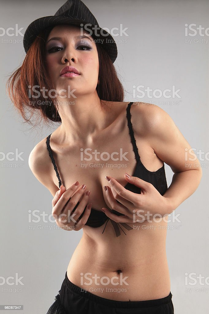 Beautiful sexy young woman royalty-free stock photo