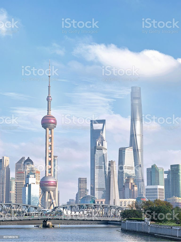 beautiful shanghai bund stock photo