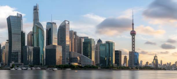 Schöne Shanghai Stadt Skyline – Foto