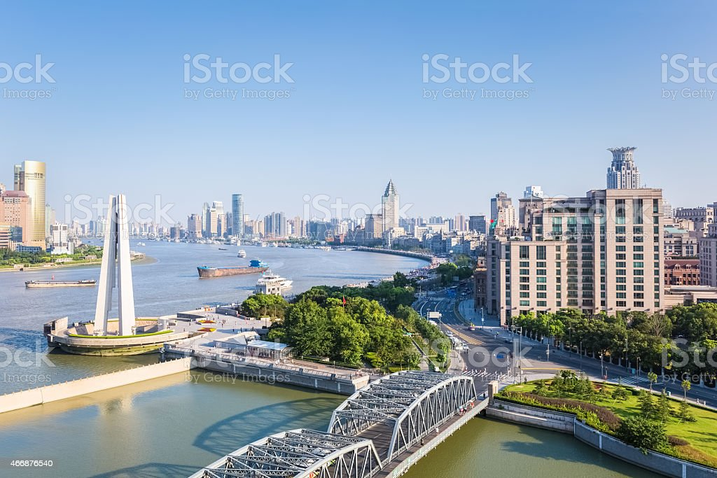 beautiful shanghai in afternoon stock photo