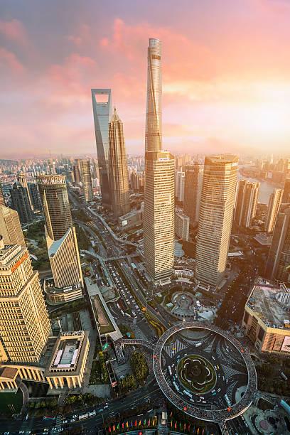 Beautiful Shanghai Pudong skyline  in Shanghai, China – Foto