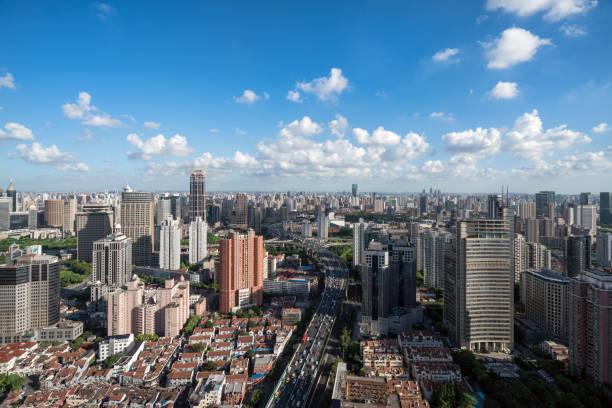 Beautiful shanghai Skyline. – Foto