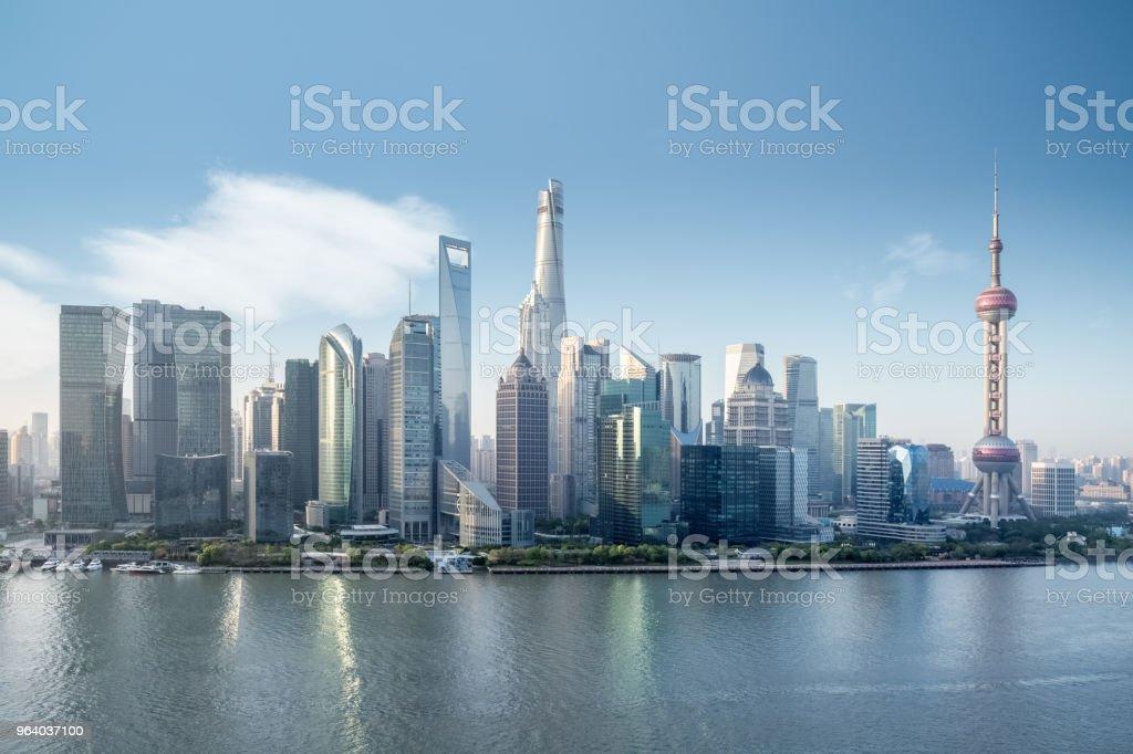 美しい上海の街並み - ウォーターフロントのロイヤリティフリーストックフォト
