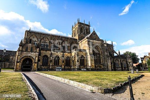 istock Beautiful Sherborne Abbey At Morning, UK 1297431163