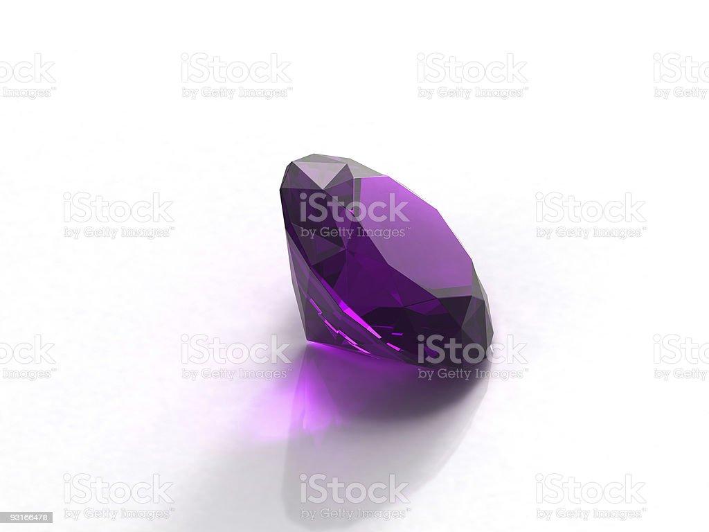 A beautiful shiny purple amethyst stock photo